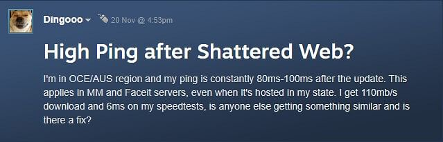 Australian CS:GO Servers Facing Issues Since a Long Time Goes Unnoticed