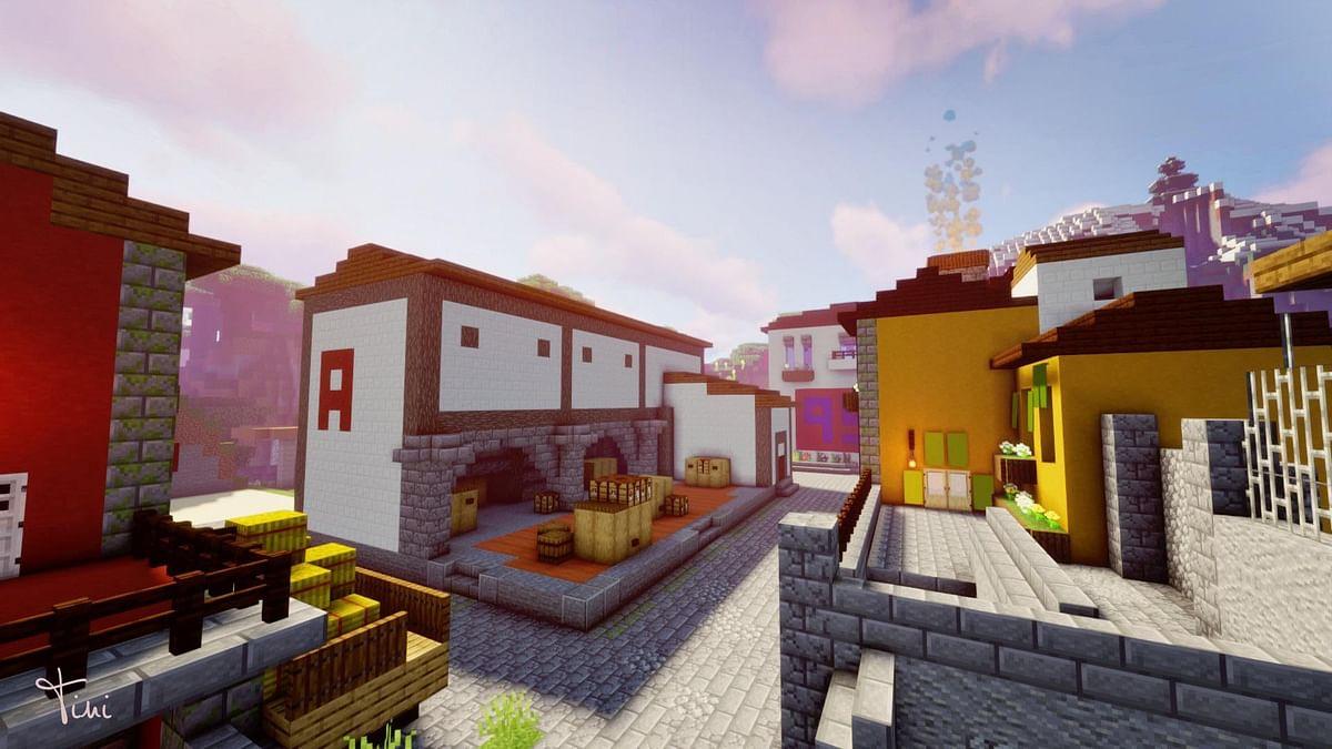 CS:GO Fan Recreates Inferno Map Replica in Minecraft