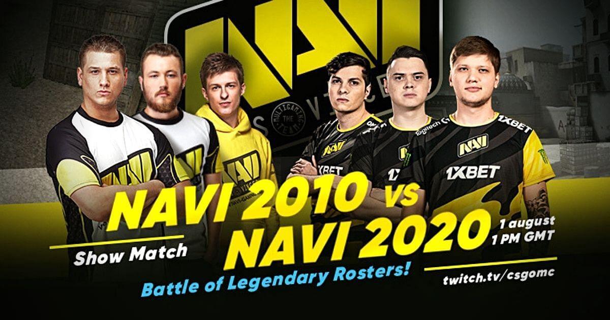 Showmatch Details of Na'Vi 1.6 (2010) vs Na'Vi 2020 Announced