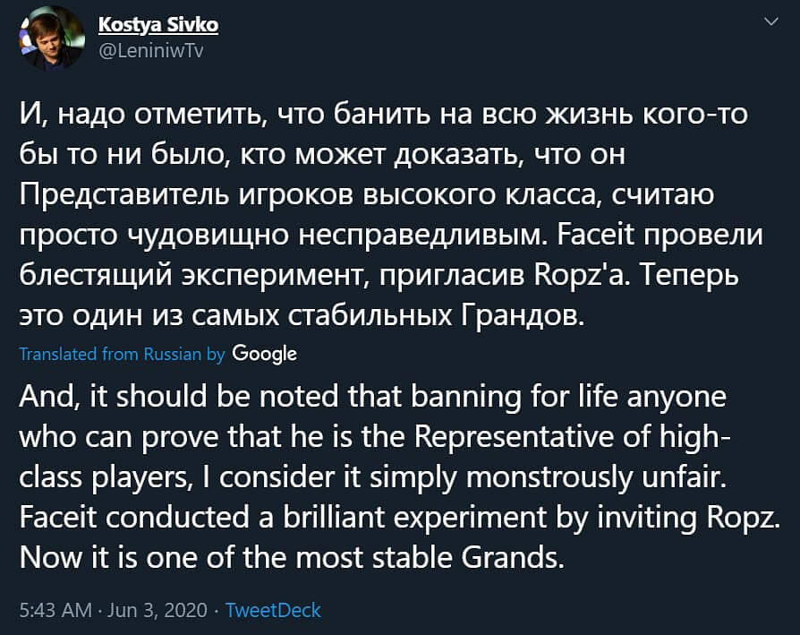 CS:GO Talent Requests Valve to Review Jamppi's VAC Ban by Comparing it to s1mple's ESL Ban