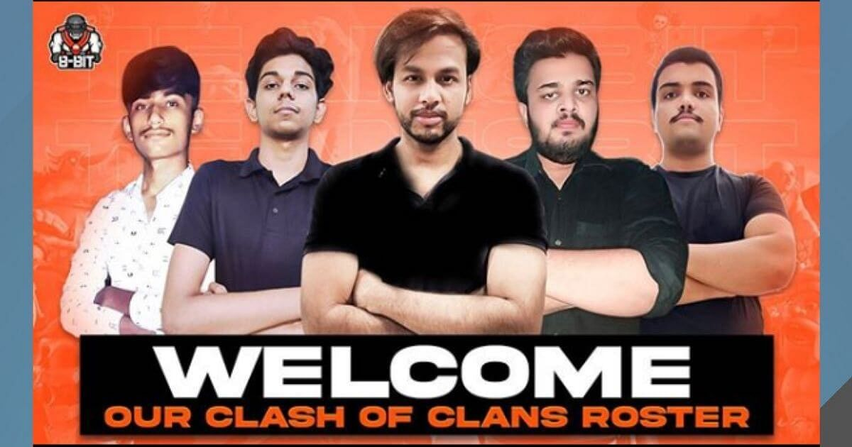 8bit Sign Clash of Clans Roster