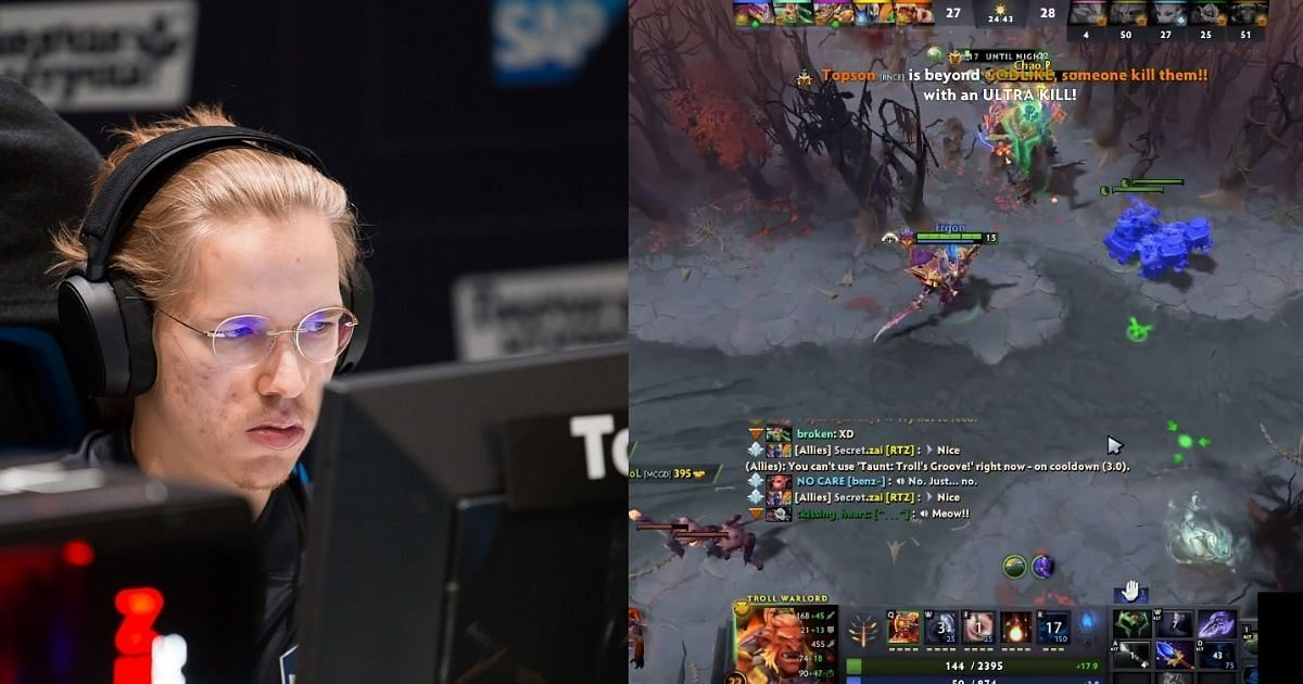 [Watch] Topson Takes An Insane 1v5 Fight On Troll Warlord