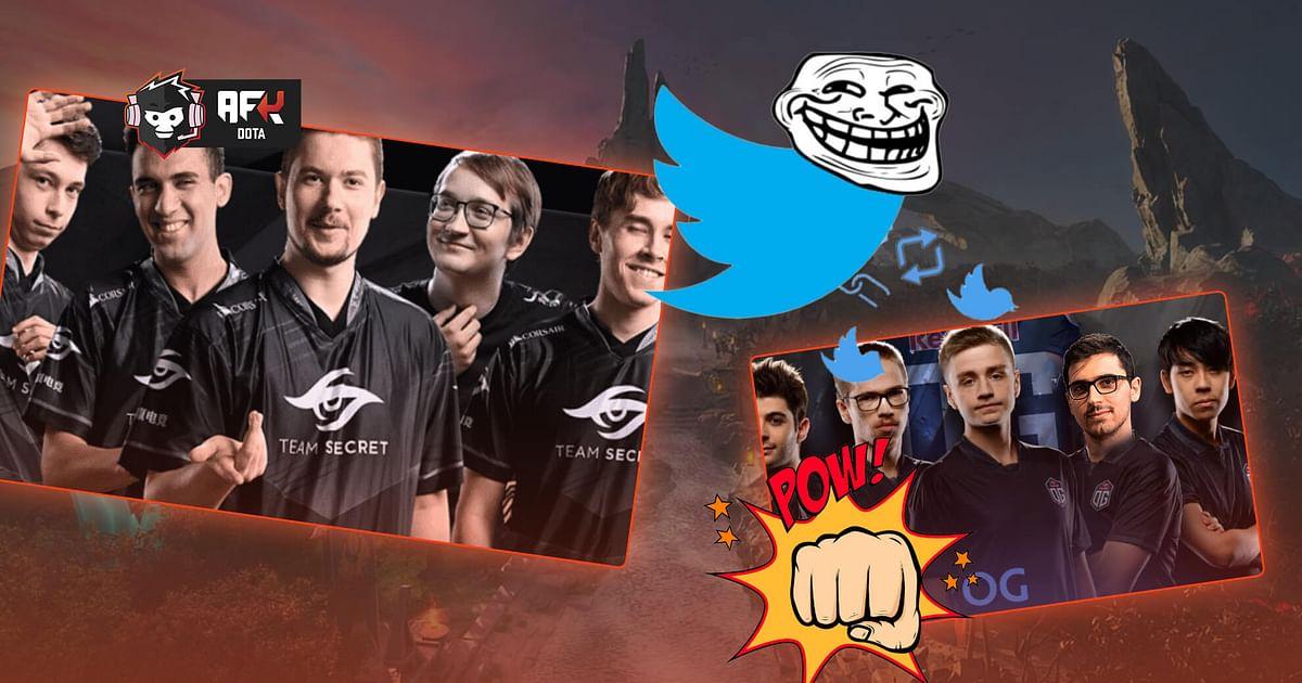Twitter Banter: Team Secret Savagely Trolls OG After Loss in the 2021 DPC S2
