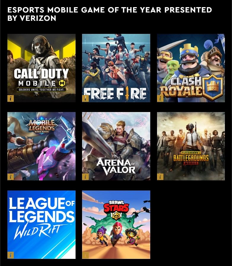 The Esports Mobile Game of the Year Finalists Announced for Esports Awards 2021