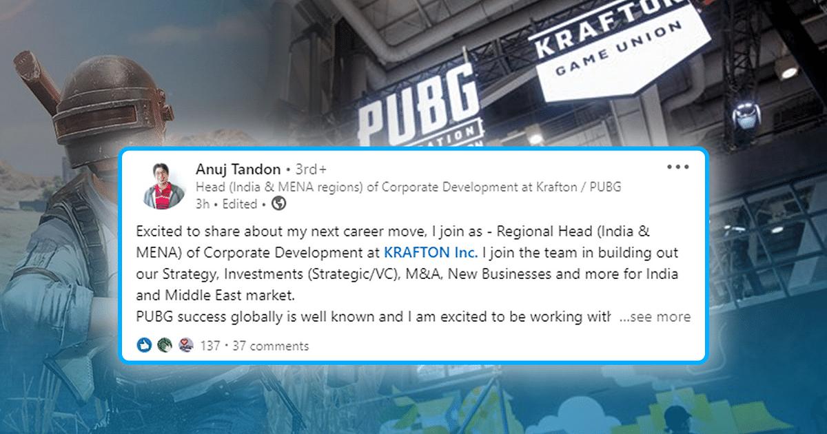 PUBG Studio Krafton Inc. Hires New Regional Head for India and MENA