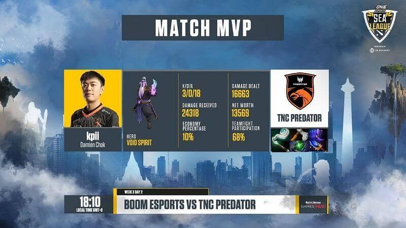 TNC Predator Beats BOOM Esports At The ONE Esports SEA Dota 2 League Group Stage