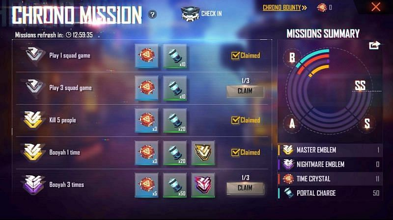Free Fire: How To Obtain Free Rewards in Operation Chrono