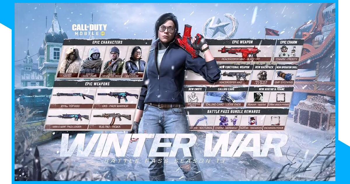 Call of Duty Mobile: Winter War Season 13 Battle Pass Debuts