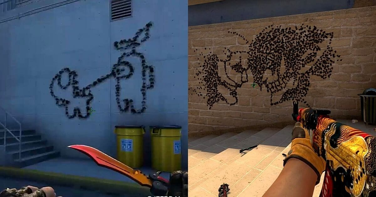 Designer Creates Attack on Titan, Among Us Art in CS:GO Using Guns