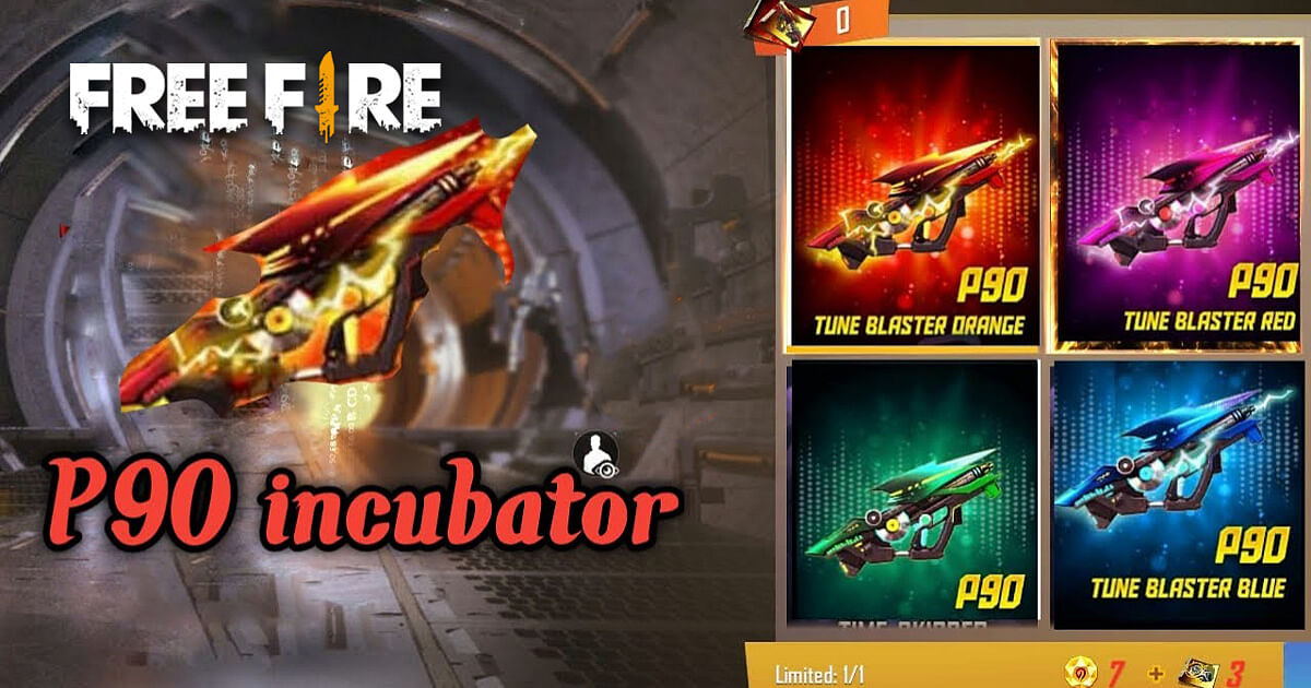 Free Fire: How to Get the P90 Tune Blaster in the Incubator