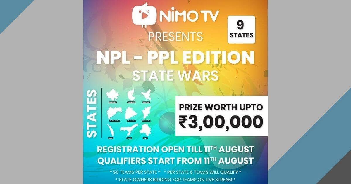 NIMO TV Announces NPL PUBG MOBILE State Wars