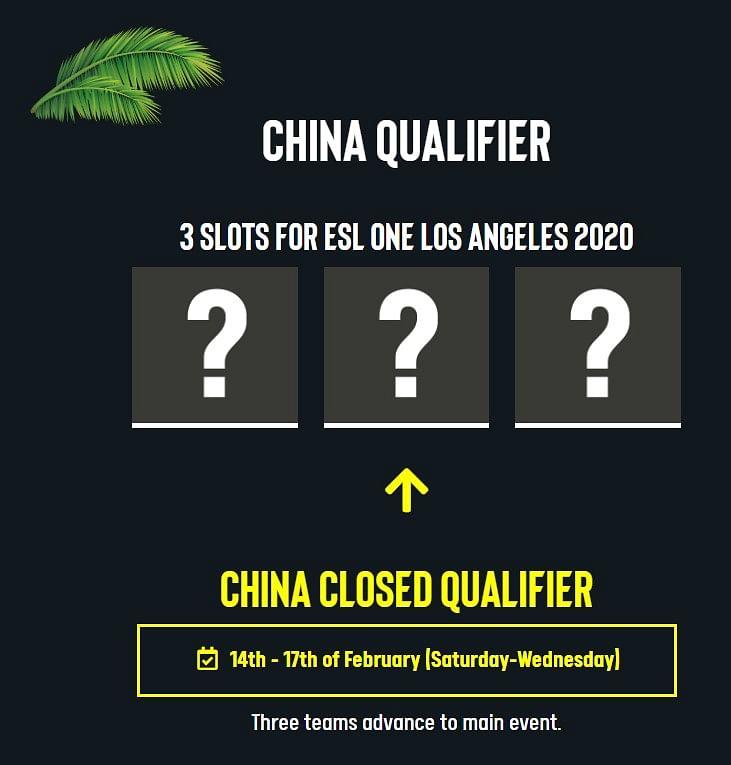 ESL One Los Angeles 2020 Major Chinese Qualifiers Postponed Amidst Coronavirus Outbreak