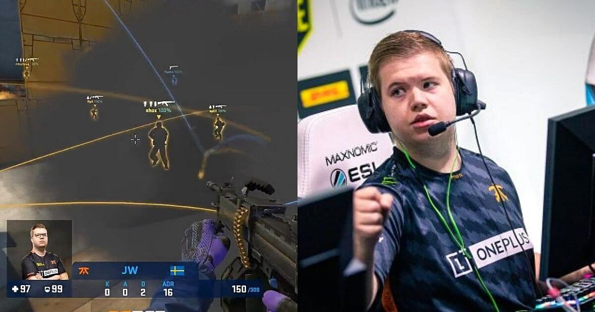 [Watch] JW Surprises Vitality With The Negev to Take a Triple Kill