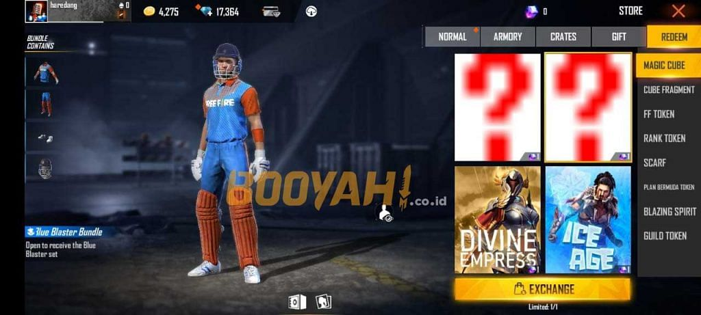 Free Fire: How to Get Golden Bell and Blue Blaster Bundle