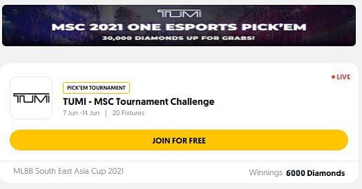 ONE Esports Fantasy for MSC 2021 - How to Win Free MLBB Diamonds