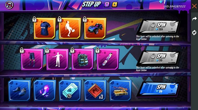 All You Need to Know About Step Up Event on Garena Free Fire