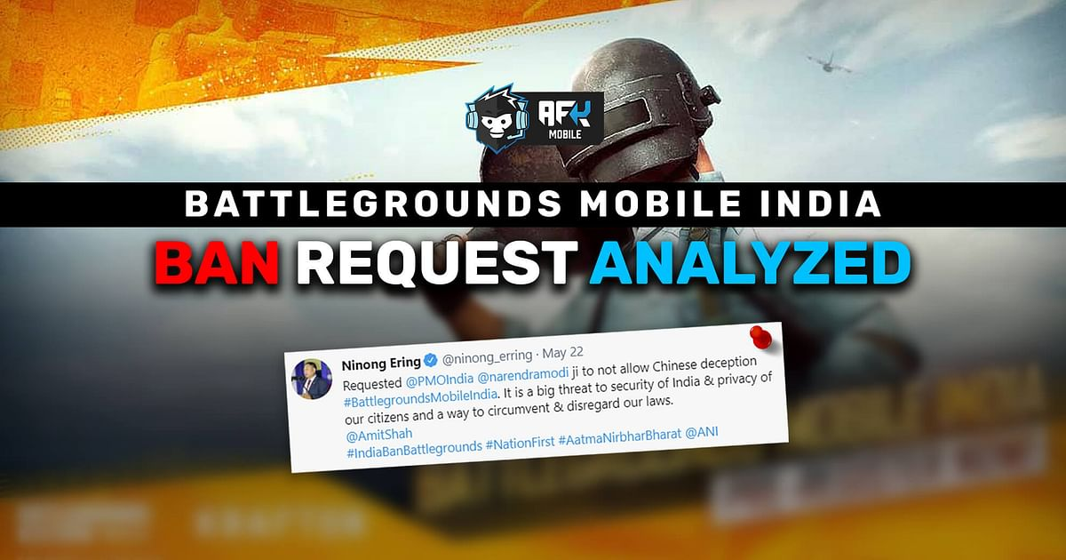 Analyzing Battlegrounds Mobile India Ban Request by Politician Ninong Ering