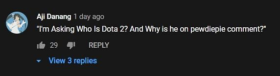PewDiePie's Comment Section Invaded By elwono's Dota 2 Community