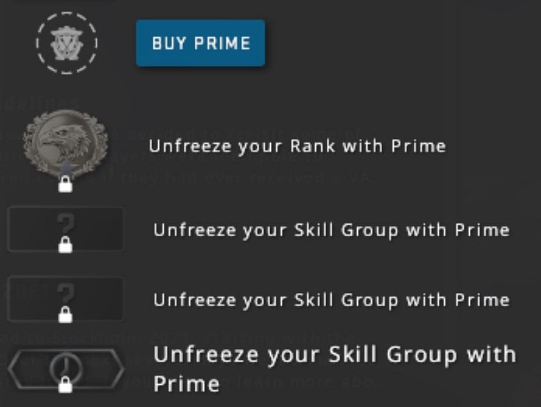 Valve Revamps Prime Status, CS:GO Players Must Pay for Ranked Matchmaking
