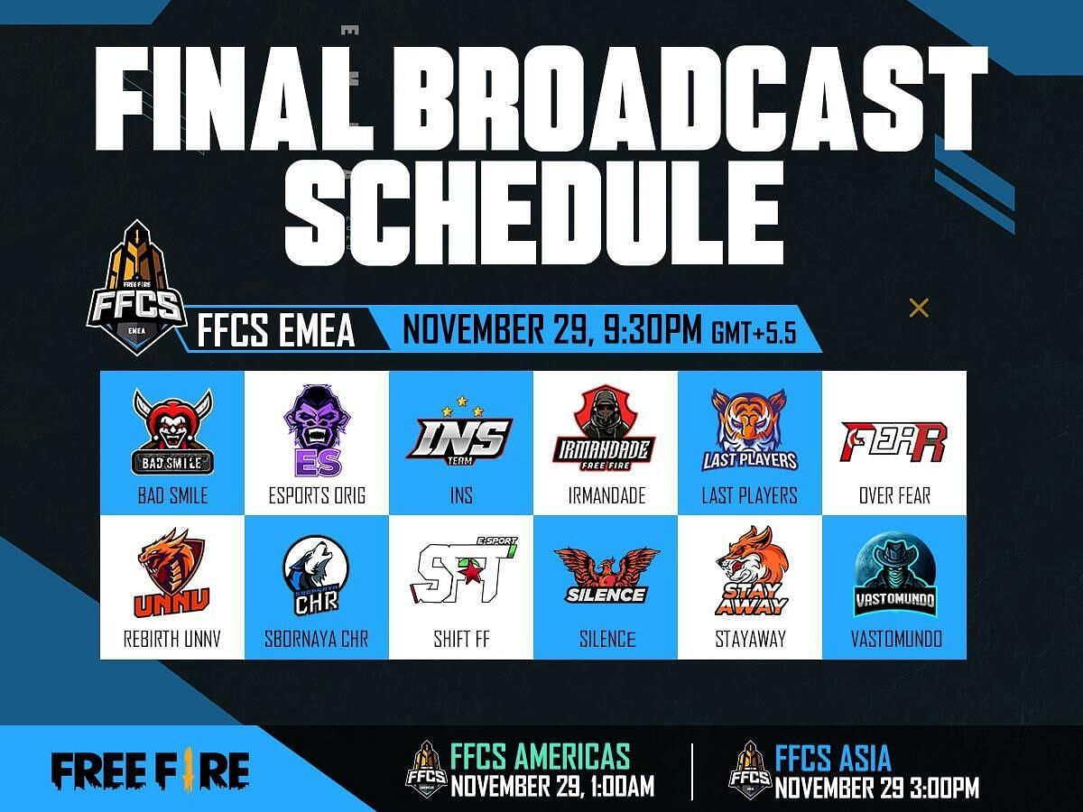 Free Fire Continental Series(FFCS): World's Top Teams Will Compete in the Grand Finals