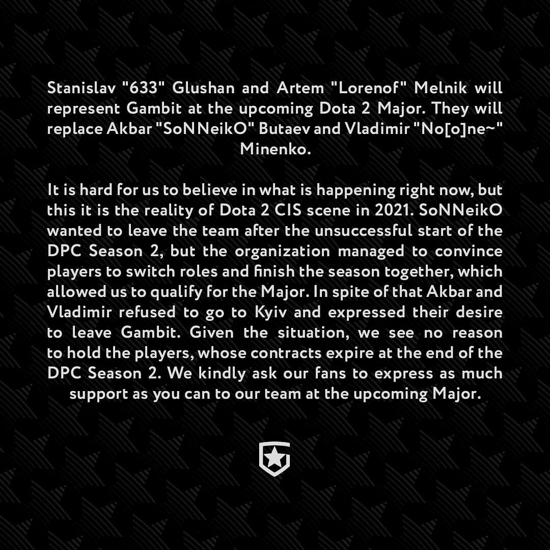 No[o]ne and SoNNeikO Leave AS Monaco Gambit to Join Na'Vi