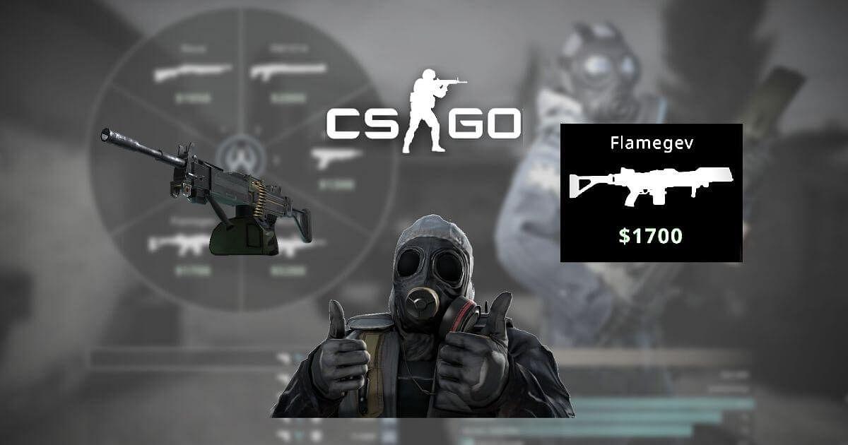 CS:GO Modder Converts Negev Into a Flamethrower