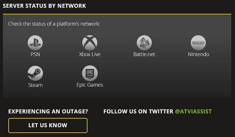 How to Check Activision Server Status for COD Games