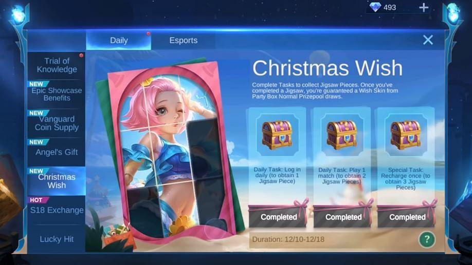 MLBB: Christmas Wish Event Announced