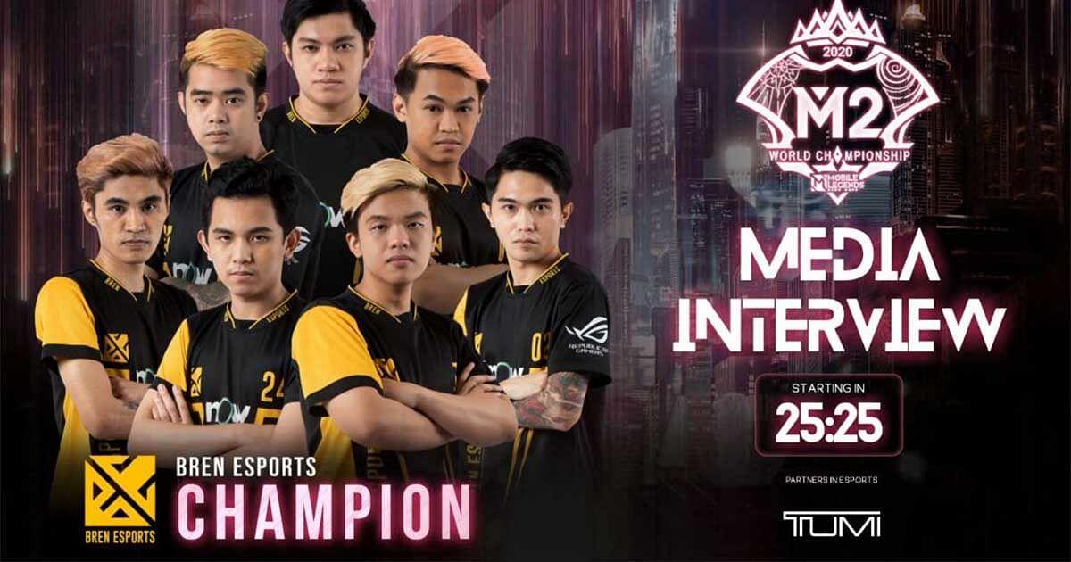 Bren Esports Are The Champions of M2 World Championship 2021
