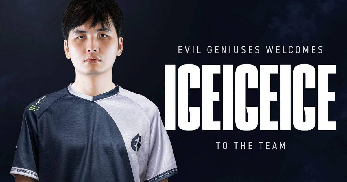 IceIceIce Joins Evil Geniuses To Round Out Dota 2 Roster