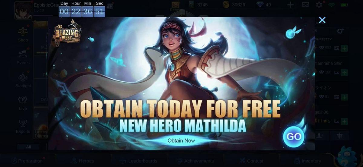 MLBB: Obtain New Hero Mathihlda for Free
