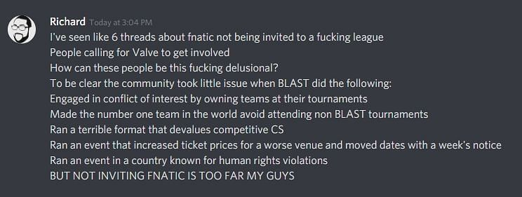 Fnatic's CEO and Head Coach Respond to BLAST for not Inviting them
