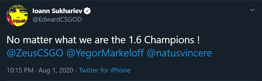 Na'Vi 2020 Wins 4 of 6 Maps Against Na'Vi 2010 in the Showmatch