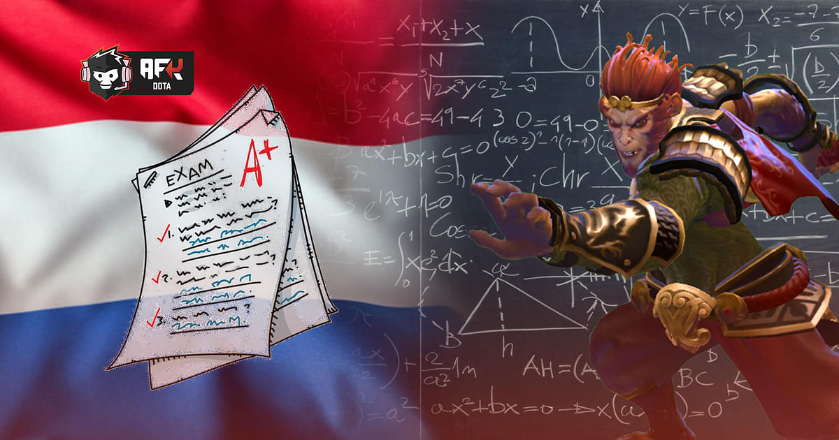 Dota 2 Based Questions Appear in a Dutch Math Exam Paper