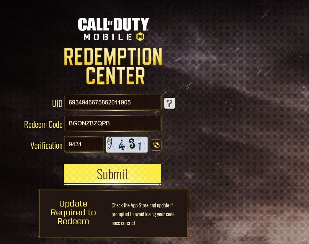 COD Mobile Redeem Codes For May 2021