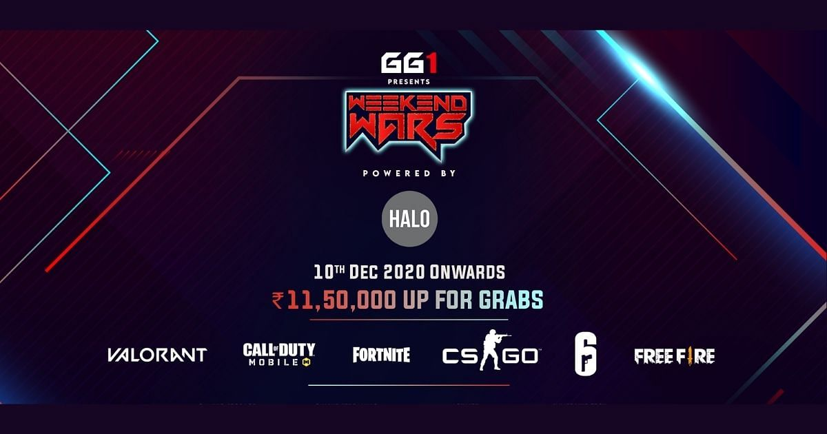 GG1 Weekend Wars Announced For Free Fire, Fortnite, VALORANT, CS:GO and CoDM