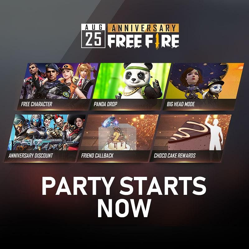 When is Free Fire 3rd Anniversary?