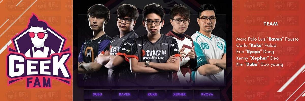 Geek Fam confirms lineup featuring Raven, Kuku and Ryoya