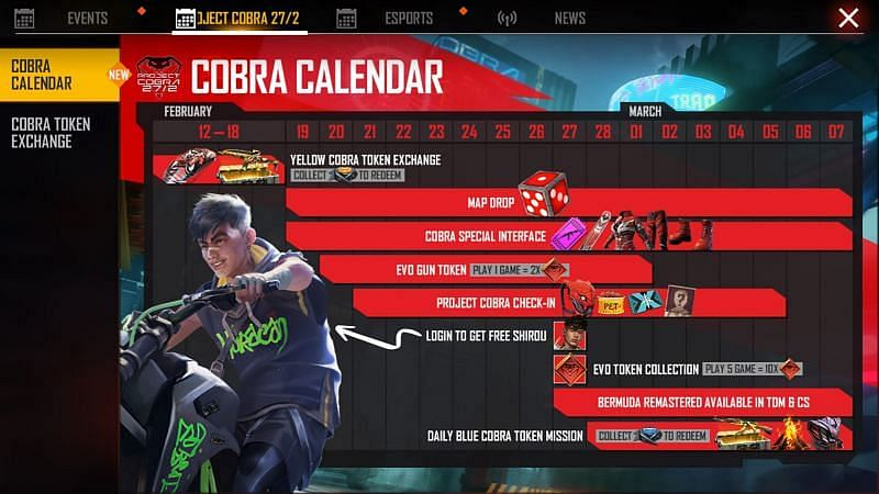 Free Fire Cobra Guardian Backpack: How to Get For Free