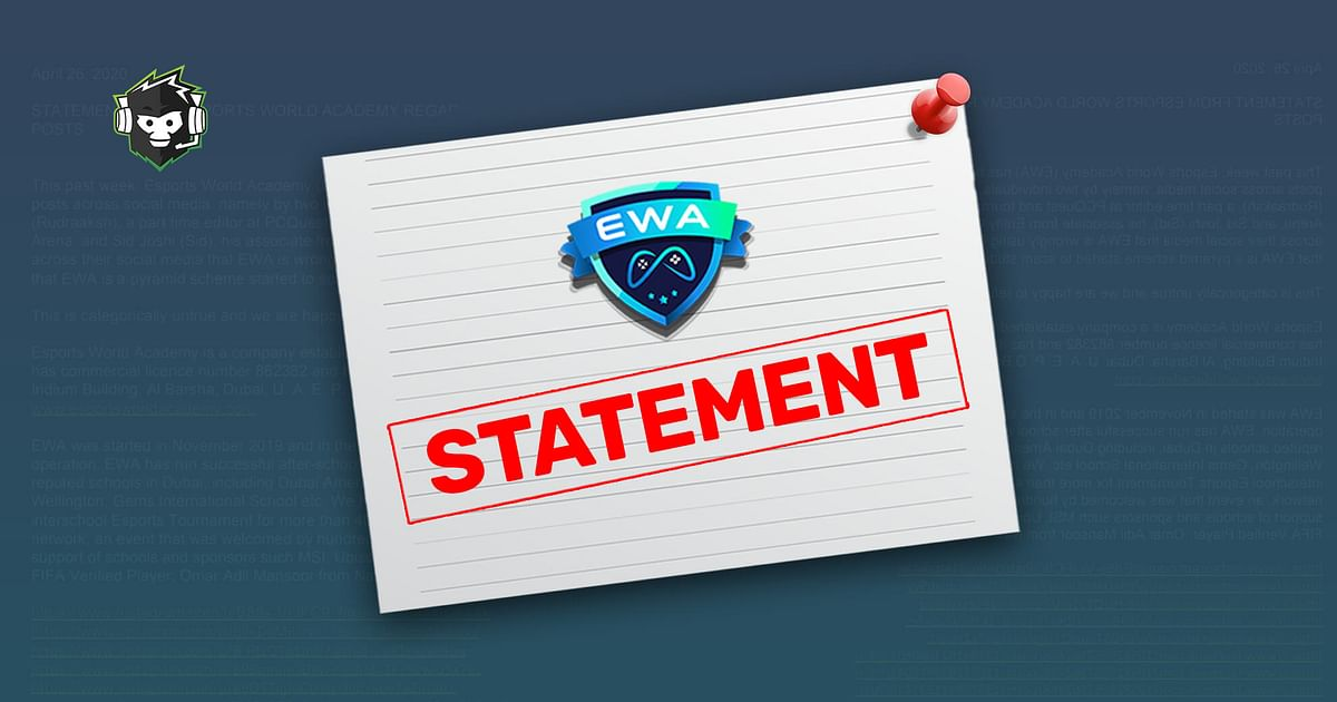 OG Co-Owner Denies Team's Involvement with Esports World Academy. EWA Responds.