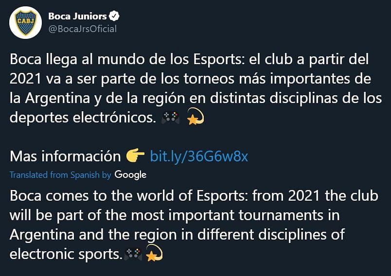 Argentinian Football Club Boca Juniors Enters CS:GO