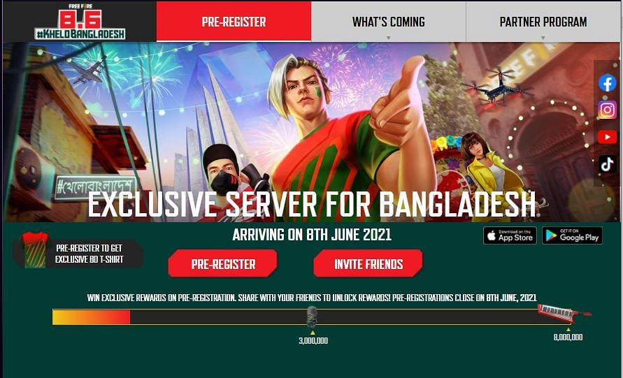 Free Fire Bangladesh Exclusive Servers: Free Rewards, Pre Registration and Release Date