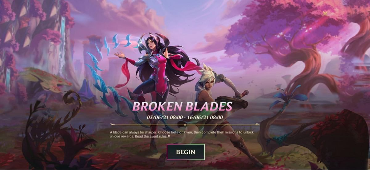 How to Get Irelia or Riven Through the Wild Rift Broken Blades Event