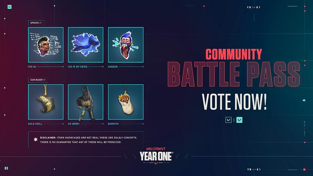 Valorant Community Battle Pass: How to Vote for The Items You Want?