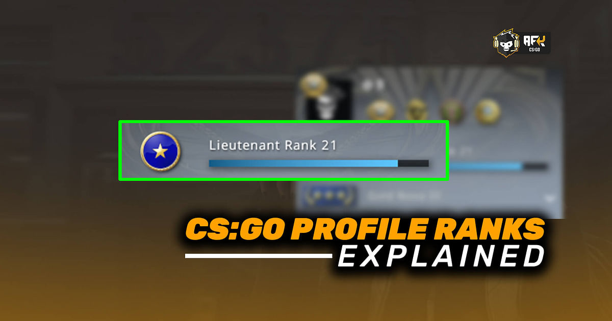 CS:GO Profile Ranks Explained: What Are They, How Do They Work, Benefits, and More