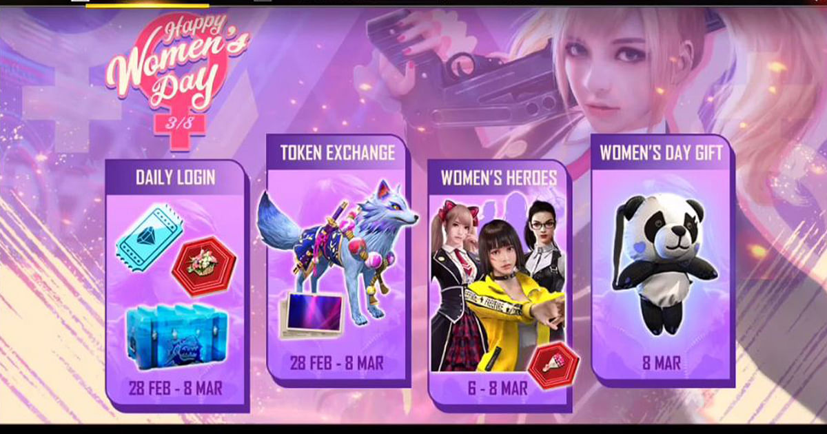 Free Fire Happy Women's Day Event: Obtain Free Female Characters