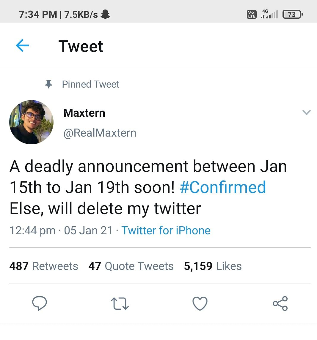 PUBG mobile Influencer Maxtern Deletes Twitter Account