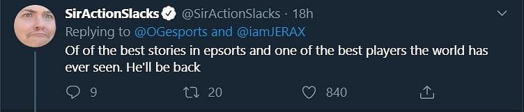 Pro Players and Talent React to Jerax's Retirement
