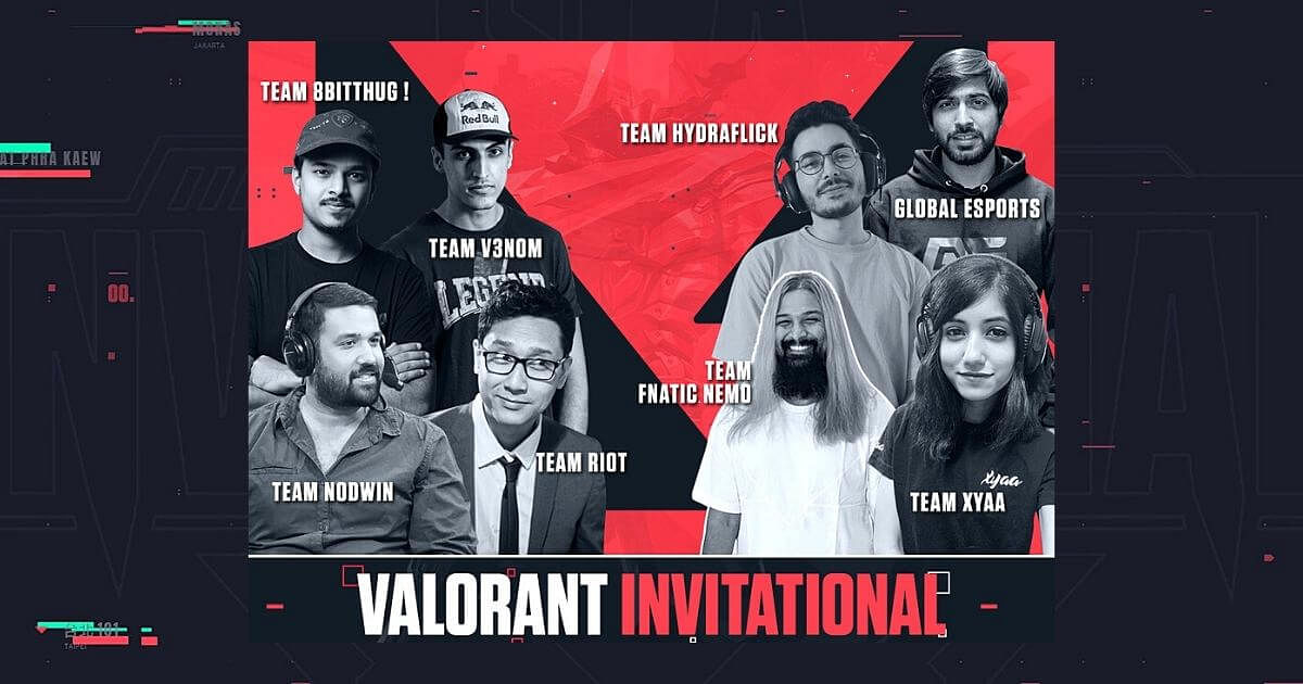 NODWIN Gaming Announces VALORANT Invitational Featuring 8Bit Thug, XYAA, V3NOM, and More