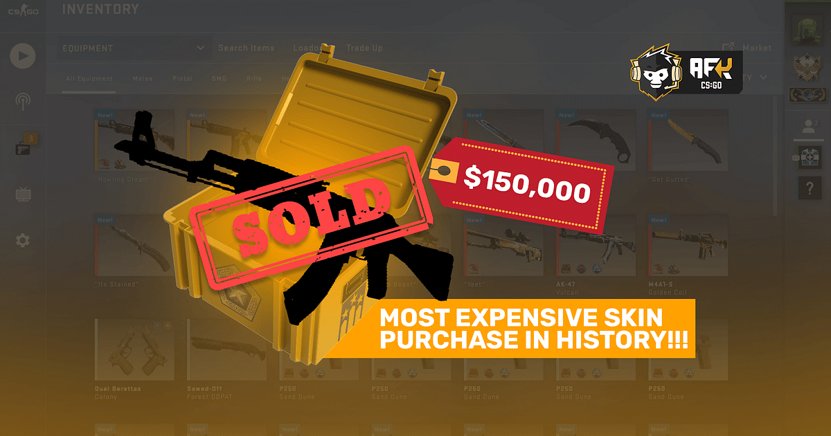 Most Expensive CS:GO Skin Sells For Record $150K